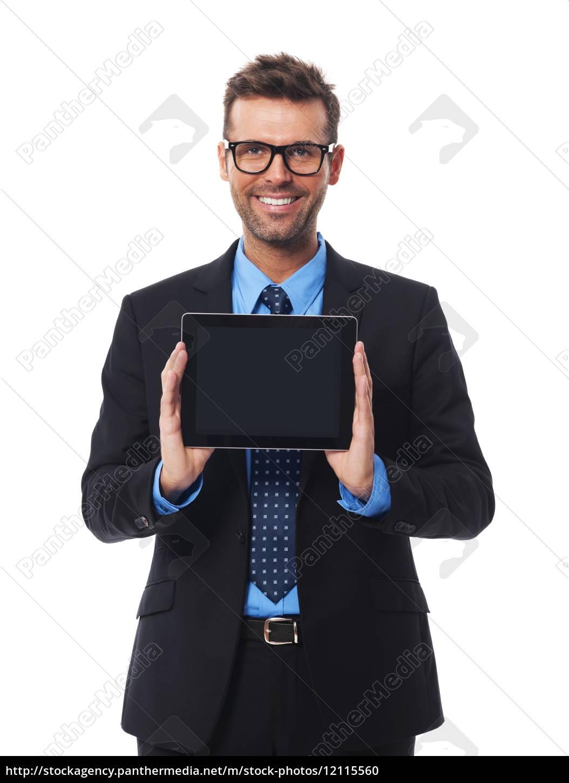 un, uomo, d'affari, che, presenta, qualcosa - 12115560