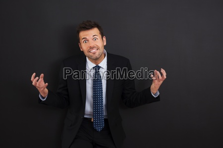 portrait of very angry businessman