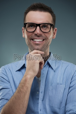 portrait of handsome man in glasses