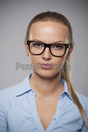 portrait of beautiful businesswoman wearing fashion