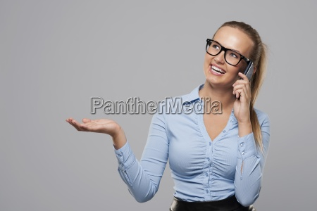 businesswoman talking on mobile phone and
