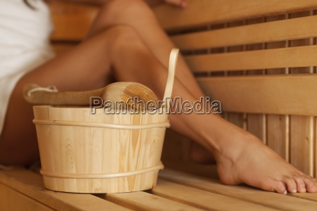 time to relaxing in sauna