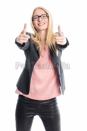 optimistic businesswoman