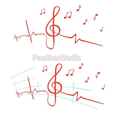 musica violino note musicali pulsante tasto