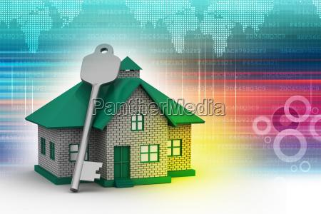 3d casa con la chiave