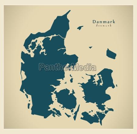 mappa moderna danimarca