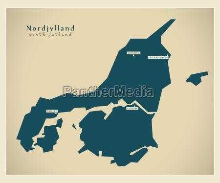 grafico moderno danimarca mappa regione vettore