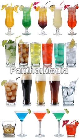 set di bevande cocktail bibite birra