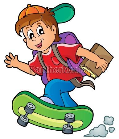 persona allievo occhio organo skateboard scolaro