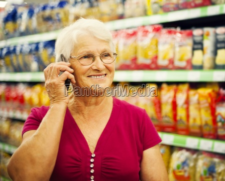senior woman on the phone at