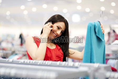 attractive young woman on the phone