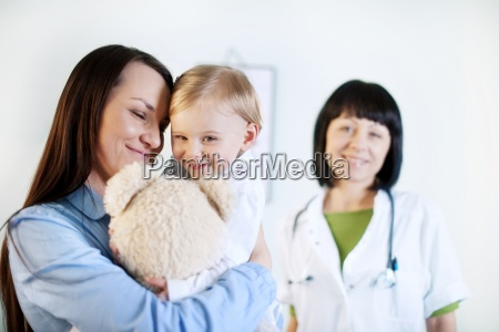 mother and baby girl at the