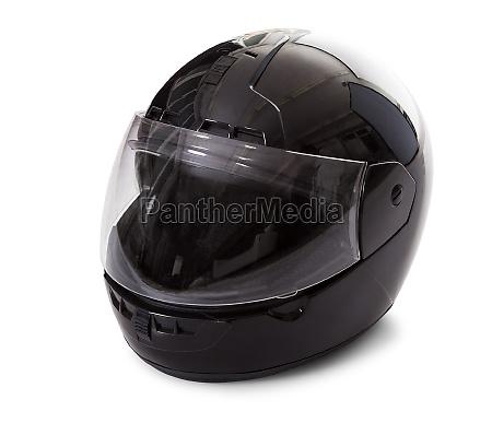 casco da motociclista nero