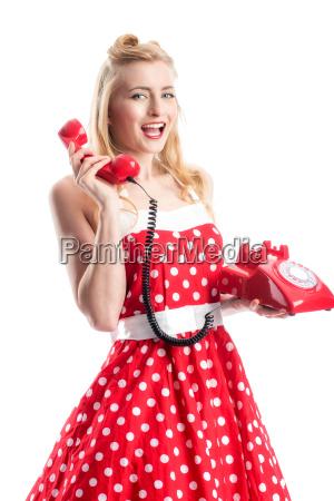 pin up girl telefonare