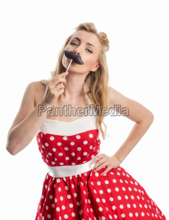 rockabilly donna con lecca