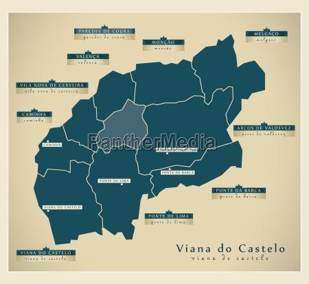 moderna mappa viana do castelo