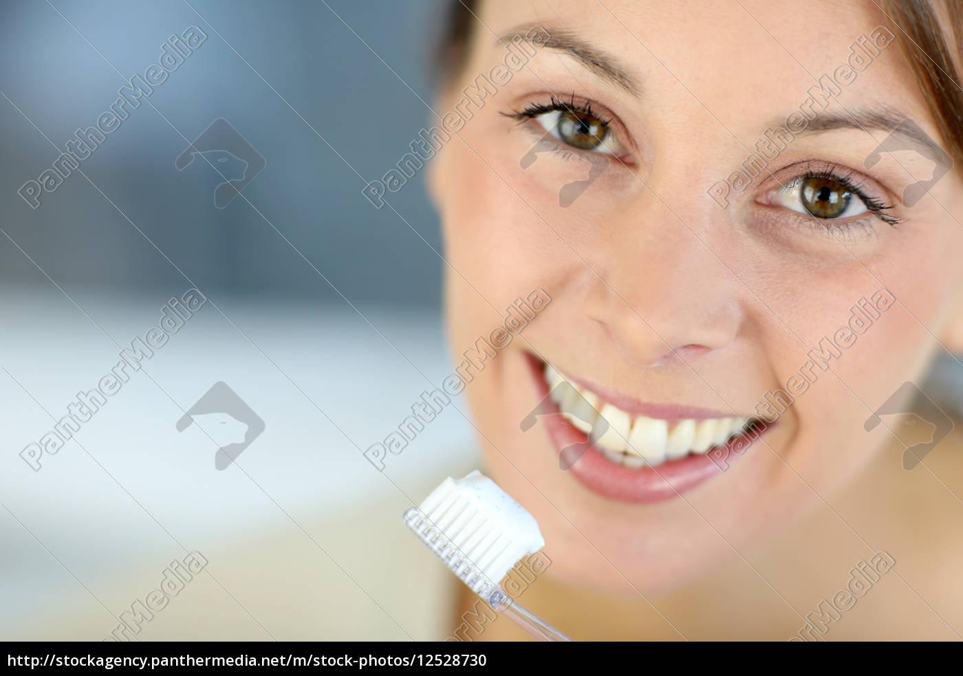 primo, piano, sul, sorriso, dentaso, della - 12528730