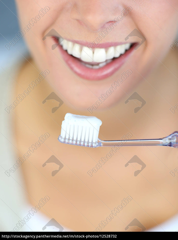 primo, piano, sul, sorriso, dentaso, della - 12528732