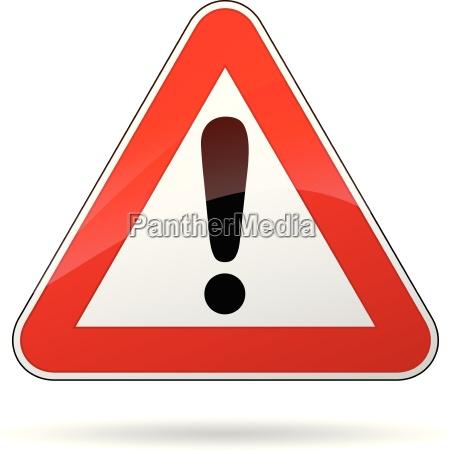 segnale di avvertimento vettoriale