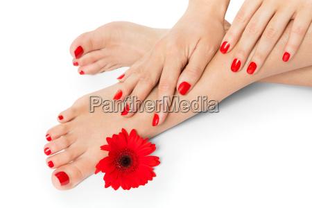mano mani moda femminile pelle piedi