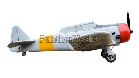 vecchio combattimento aereo su sfondo bianco