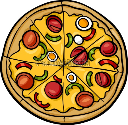 illustrazione italiana del fumetto della pizza