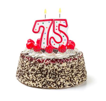 torta di compleanno con la candela