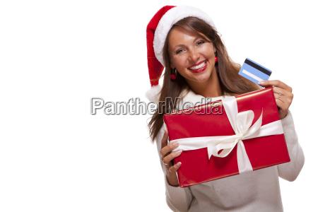 donna attraente con cappello rosso di