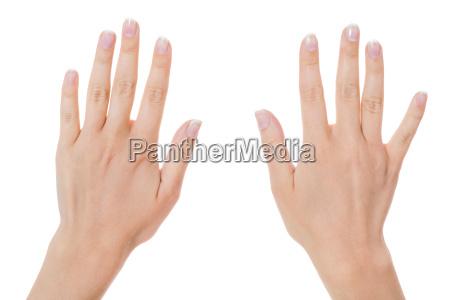 sensuale mani femminili di una donna