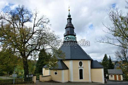 torre chiesa erzgebirge campanile cielo firmamento