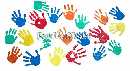 le mani dei bambini