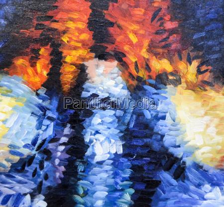 impressionismo struttura astratta della pittura