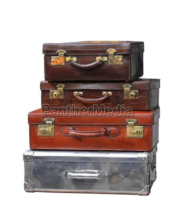 viaggio viaggiare annata pelle valigia valigie