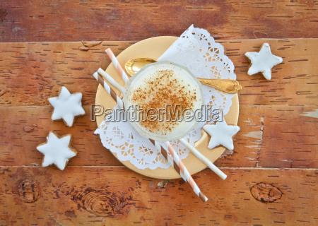 inverno legno avvento piatto glassa glassatura