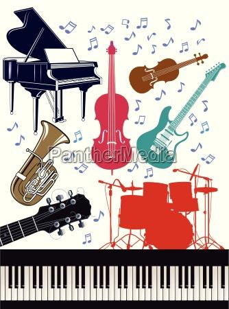 strumenti musicali allegri