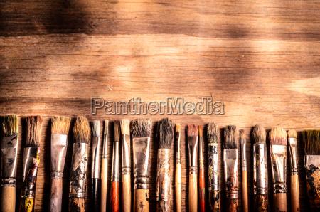 arte pittura spazzola colorare spennellare mostre