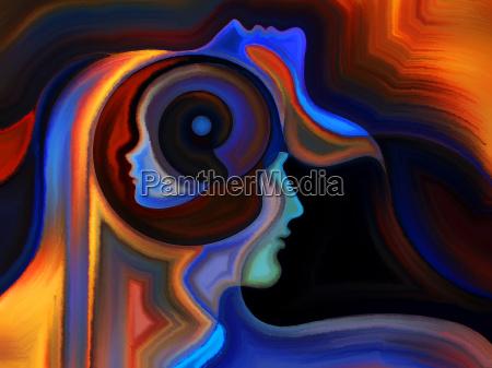 donna profilo arte visualizzazione composizione progettazione