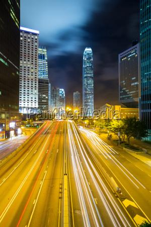 crepuscolo skyline porcellana quartiere degli affari