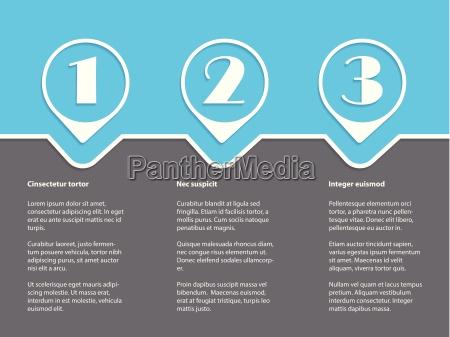 infografica semplice con gradi di bianco