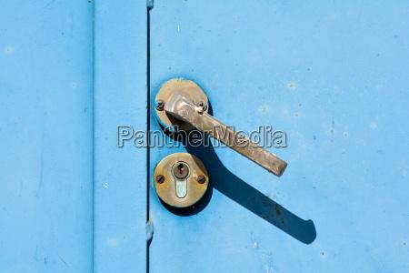 porta in acciaio blu