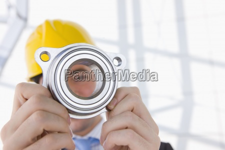 close up of engineer in hard