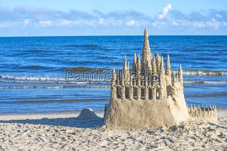 sandcastle al mar baltico