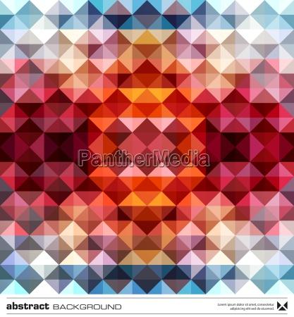 triangoli astratti sfondo colorato vettore