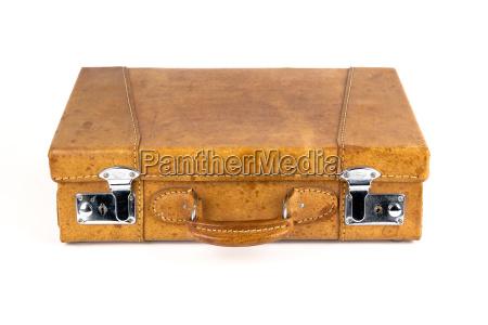 marrone pelle valigia valigie valigetta minore
