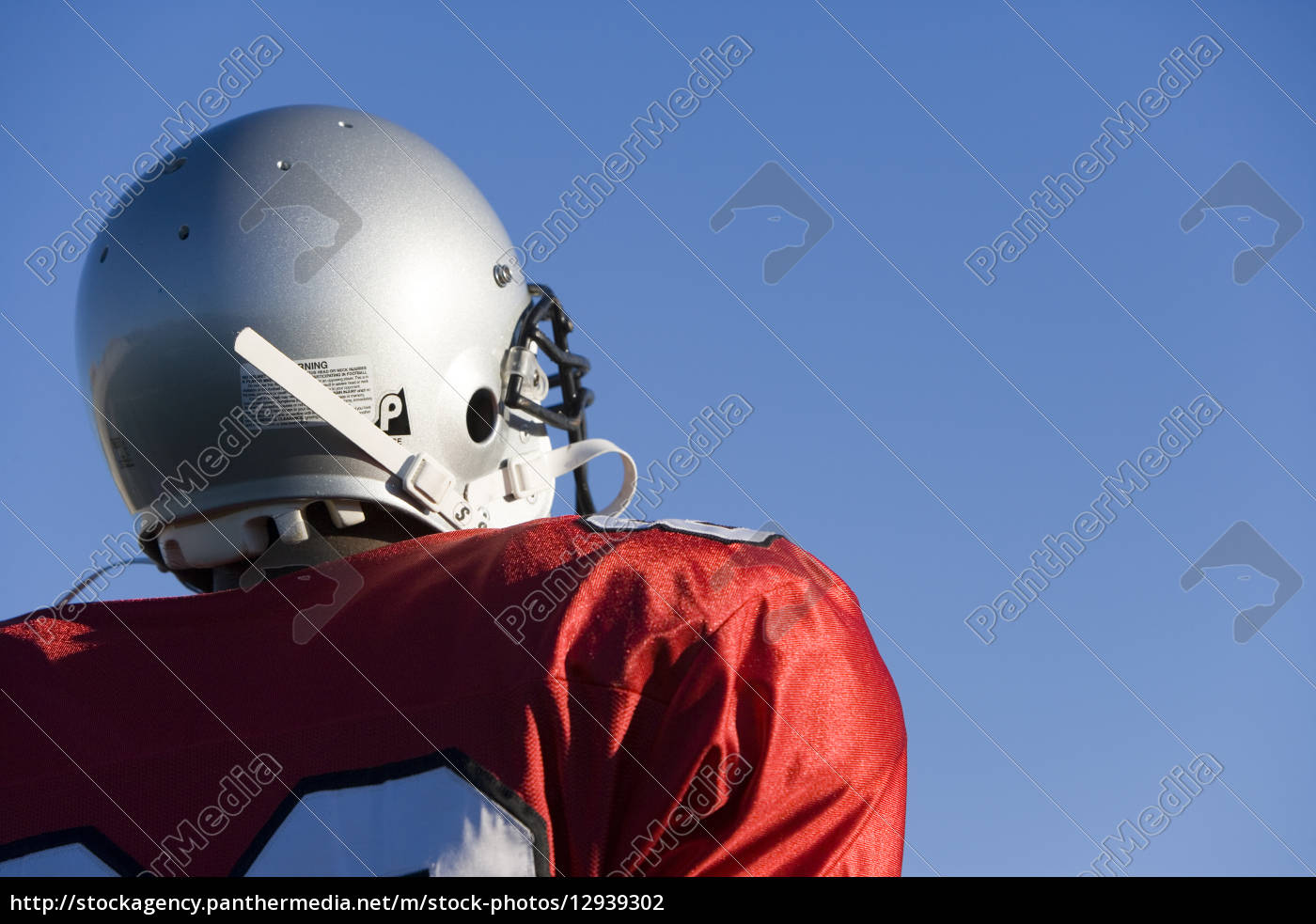 american, football, player, wearing, red, football - 12939302