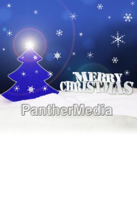 christmas background christmas tree blue