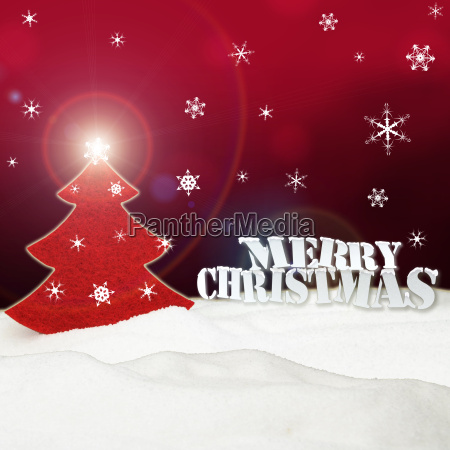 christmas background christmas tree red