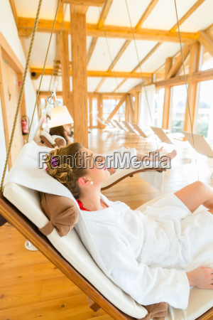 woman relaxing in wellness spa relaxation