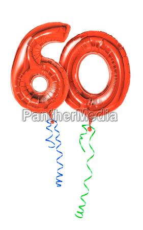 palloncini rossi con il nastro