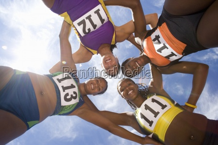 small group of female athletes arm